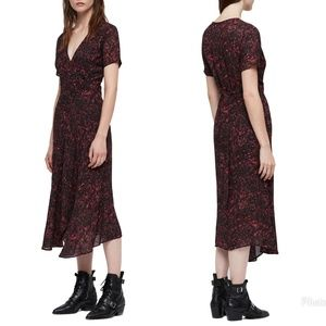AllSaints Seeta Rosey Dress - Small